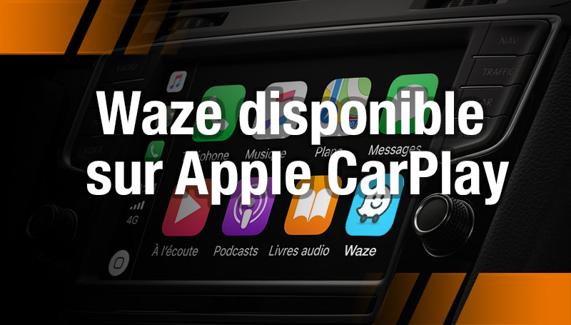Waze disponible sur Apple CarPlay